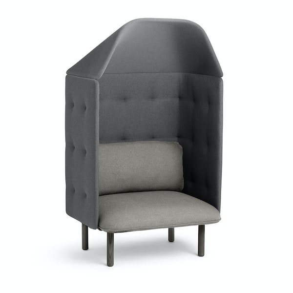 Gray + Dark Gray QT Privacy Lounge Chair with Canopy,Gray,hi-res