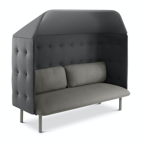 Gray + Dark Gray QT Privacy Lounge Sofa with Canopy,Gray,hi-res