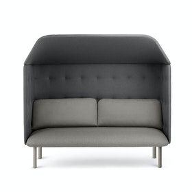 Gray + Dark Gray QT Privacy Lounge Sofa with Canopy