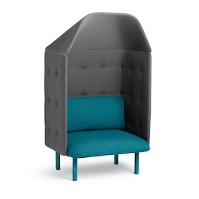 Teal + Dark Gray QT Privacy Lounge Chair with Canopy