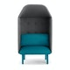 Teal + Dark Gray QT Privacy Lounge Chair with Canopy,Teal,hi-res