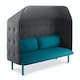 Teal + Dark Gray QT Privacy Lounge Sofa with Canopy,Teal,hi-res