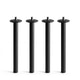Black QT Lounge Metal Legs, Set of 4,,hi-res