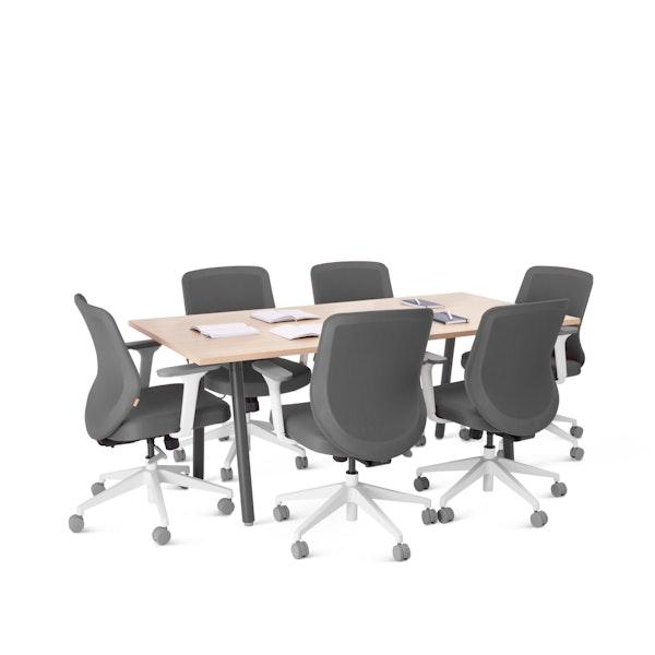 """Series A Conference Table, Natural Oak, 72x36"""", Charcoal Legs,Natural Oak,hi-res"""
