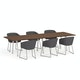 """Series A Conference Table, Walnut, 124x42"""", White Legs,Walnut,hi-res"""