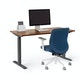 "Series L 2S Adjustable Height Single Desk, Walnut, 47"", Charcoal Legs,Walnut,hi-res"
