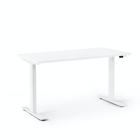 "Series L 2S Adjustable Height Single Desk, White, 47"", White Legs,White,hi-res"