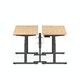 "Series L Desk for 2 + Boom Power Rail, Natural Oak, 57"", Charcoal Legs,Natural Oak,hi-res"