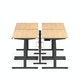 "Series L Desk for 4 + Boom Power Rail, Natural Oak, 47"", Charcoal Legs,Natural Oak,hi-res"