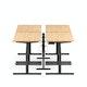 "Series L Desk for 4 + Boom Power Rail, Natural Oak, 47"", Charcoal Legs,Natural Oak,hi-res"