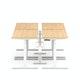 "Series L Desk for 4 + Boom Power Rail, Natural Oak, 47"", White Legs,Natural Oak,hi-res"