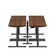 """Series L Desk for 4 + Boom Power Rail, Walnut, 47"""", Charcoal Legs,Walnut,hi-res"""
