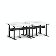 Series L Desk for 4 + Boom Power Rail, Charcoal Legs,,hi-res