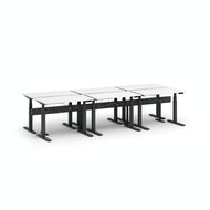 Series L Desk for 6 + Boom Power Rail, Charcoal Legs,,hi-res