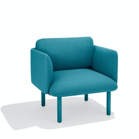 Teal QT Lounge Low Chair