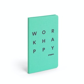 Turquoise Work Happy Hard Cover Journal