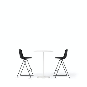 Black Key Stools + Tucker Standing Table Set