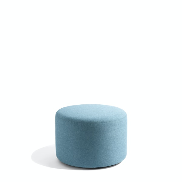 "Blue Block Party Lounge Round Ottoman, 24"",Blue,hi-res"