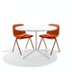 Brick Key Side Chair, Set of 2, with Brick Seat Pad,Brick,hi-res