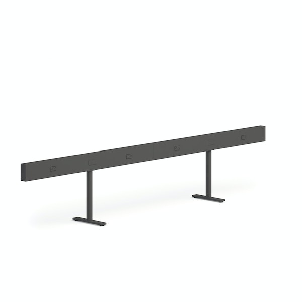 """Charcoal Boom Power Rail for 4, 60"""",Charcoal,hi-res"""