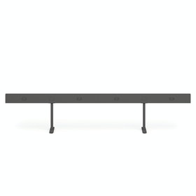 """Charcoal Boom Power Rail for 4, 60"""""""