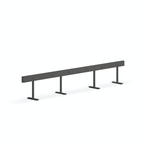 "Charcoal Boom Power Rail for 6, 50"",Charcoal,hi-res"