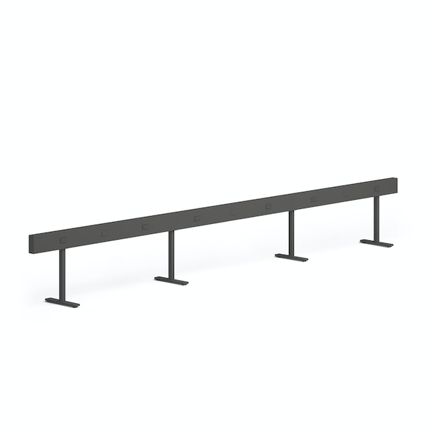 """Charcoal Boom Power Rail for 6, 60"""",Charcoal,hi-res"""