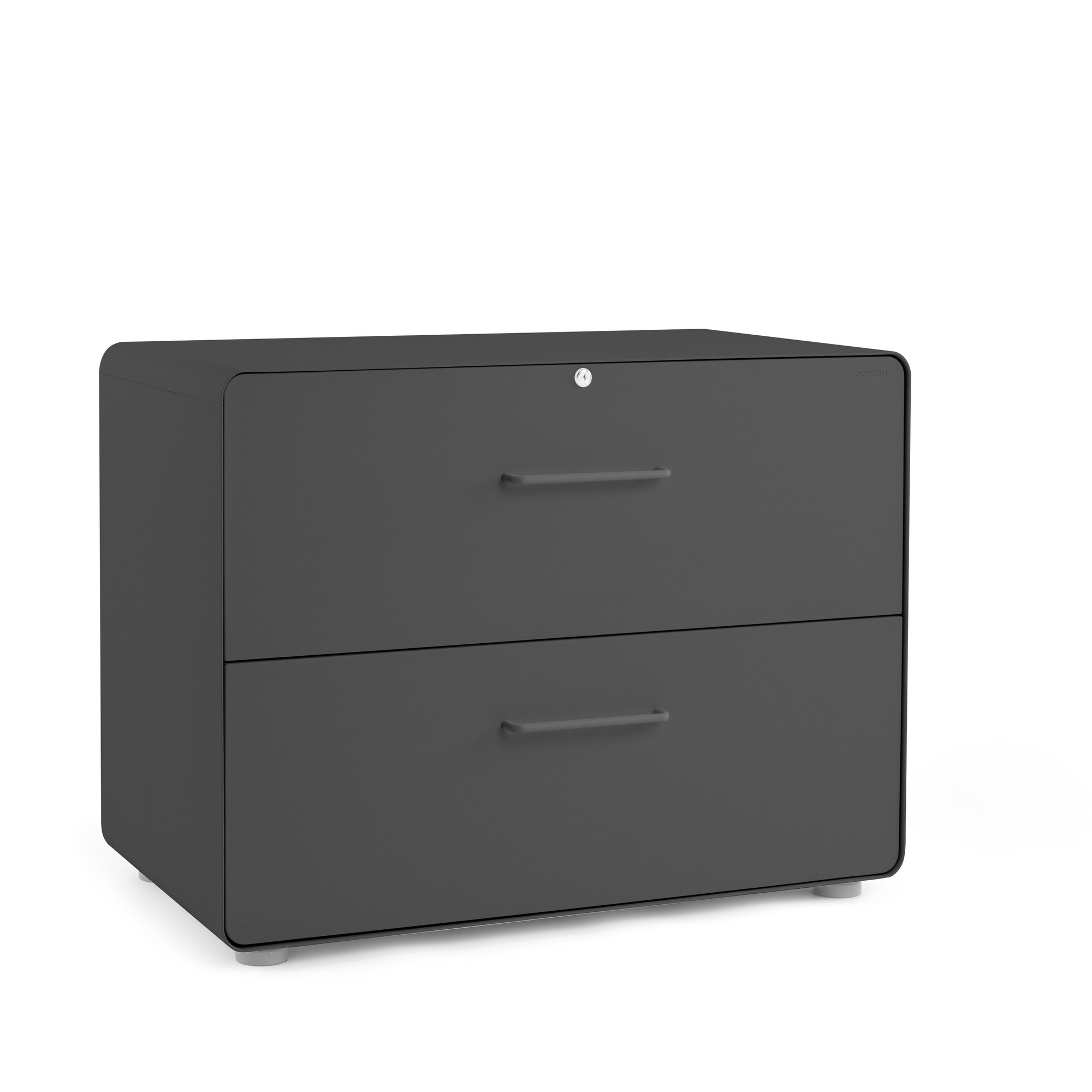 Image of: Charcoal Stow 2 Drawer Lateral File Cabinet File Cabinets Storage Poppin