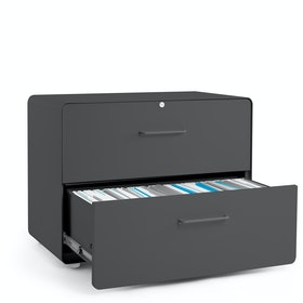 Charcoal Stow 2-Drawer Lateral File Cabinet
