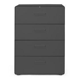 Charcoal Stow 4-Drawer Lateral File Cabinet