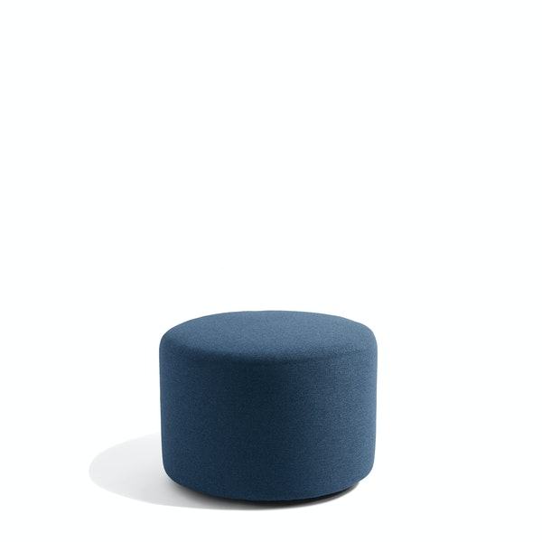 "Dark Blue Block Party Lounge Round Ottoman, 24"",Dark Blue,hi-res"