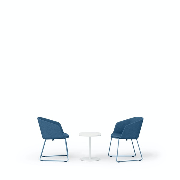 Dark Blue Pitch Sled Chairs + Tucker Side Table Set,Dark Blue,hi-res
