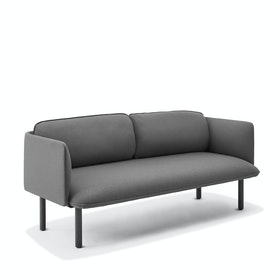Dark Gray QT Lounge Low Sofa