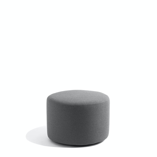 "Dark Gray Block Party Lounge Round Ottoman, 24"",Dark Gray,hi-res"