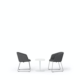 Dark Gray Pitch Sled Chairs + Tucker Side Table Set