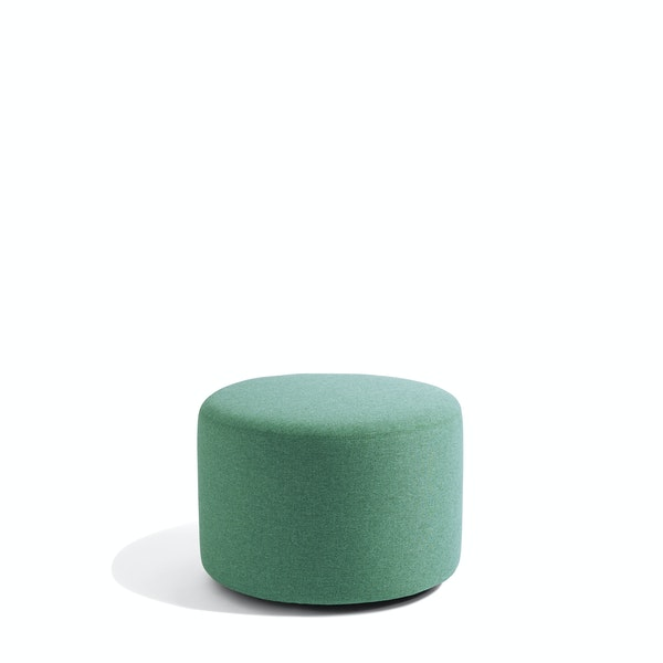 "Grass Block Party Lounge Round Ottoman, 24"",Grass,hi-res"