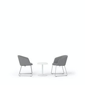 Gray Pitch Sled Chairs + Tucker Side Table Set
