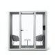 Gray Pitch Sled Chairs + Tucker Side Table Set,Gray,hi-res