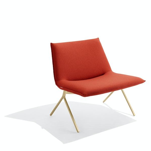 Brick + Brass Meredith Lounge Chair,Brick,hi-res