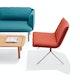 Brick + Nickel Meredith Lounge Chair,Brick,hi-res