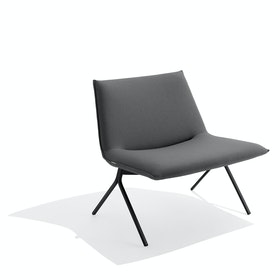 Dark Gray + Black Meredith Lounge Chair