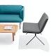 Dark Gray + Black Meredith Lounge Chair,Dark Gray,hi-res