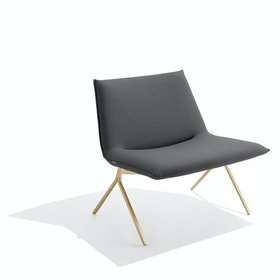 Dark Gray + Brass Meredith Lounge Chair