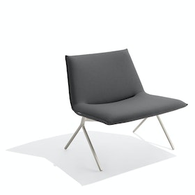 Dark Gray + Nickel Meredith Lounge Chair