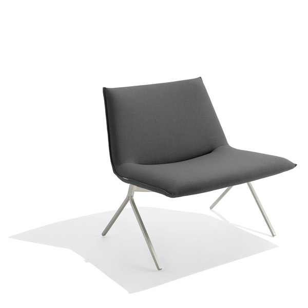 Dark Gray + Nickel Meredith Lounge Chair,Dark Gray,hi-res