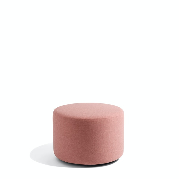 "Rose Block Party Lounge Round Ottoman, 24"",Rose,hi-res"