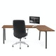 Series A Corner Desk, Walnut with Charcoal Base, Right Handed,Walnut,hi-res