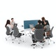 "Series A Scale Racetrack Conference Table, White, 114x60"", White Legs,White,hi-res"