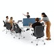 """Series A Scale Racetrack Conference Table, White, 180x60"""", White Legs,White,hi-res"""