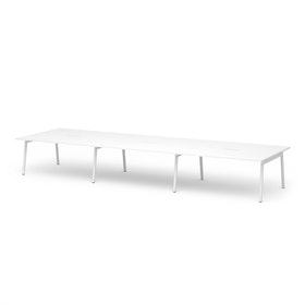 "Series A Scale Rectangular Conference Table, White, 198x60"", White Legs"